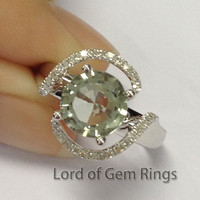 Reserved for arachnel,Custom Made Engagment Ring Semi Mount for 8mm Round