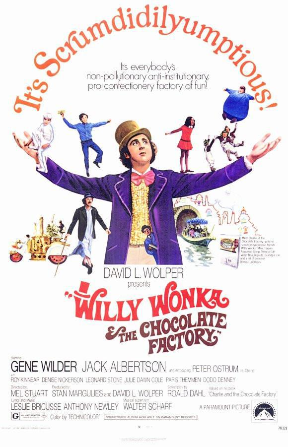 Image of Willy Wonka and the Chocolate Factory 11x17 Movie Poster (1971)