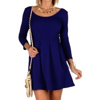 Sale-royal Skater Dress With Pockets