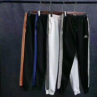 Adidas Fashion Casual Stripe Drawstring Sport Running Pants Trousers Sweatpants H-XYCL2