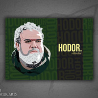 Hodor (Game of Thrones series character) poster print