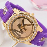 MK WATCH WATCHES DIAMOND WOMENS/MENS PINK WATCH MK55