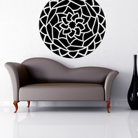 Vinyl Wall Decal Sticker Kaleidoscope Flower #OS_MB841