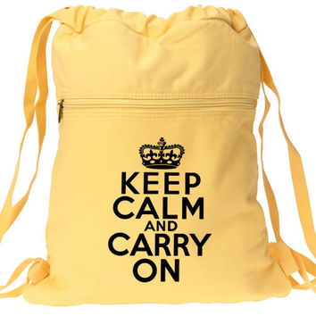 Keep Calm Carry On Backpack