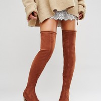 ASOS KADE Heeled Over The Knee Boots