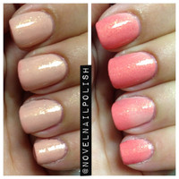Full Size (12.5 mL) nude to coral thermal indie polish - Nude Beach