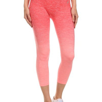Ombre High Waisted Cropped Yoga Leggings
