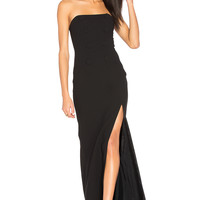 JILL JILL STUART Strapless Gown in Black | REVOLVE