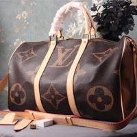 HCXX 19Aug 058 M41418 Louis Vuitton LV Keepall Large-capacity Shoulder Strap Sprintting Duffel Bag 45-27-20CM