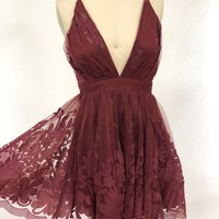 Summer Romance Dress (Wine)