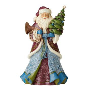 Jim Shore HWC Victoria Santa W/Tree and Horn - 6004179