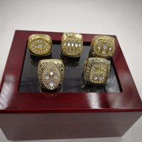 5pcs Zinc Alloy 1981/1984/1988/1989/1994 San Francisco 49ers Championship Rings For Man With Box Size 11