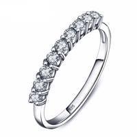 925 Sterling Silver Anniversary Band with Brilliant White CZ Stones