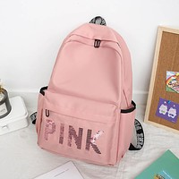 Waterproof Oxford Cloth Backpack Teenage Large Capacity School Bag Casual New Simple Solid Color Backpack for Women