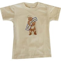 Embroidered One Piece and Toddler Tee - California Bear