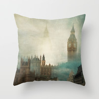 London Surreal Throw Pillow by The Last Sparrow