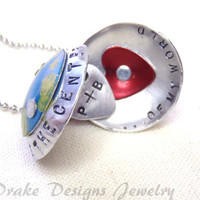 Personalized Necklace for Couples Custom Mommy Necklace Locket ..You are the CENTER of my WORLD