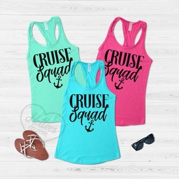Cruise Squad Tank Tops