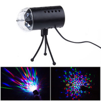 New 3W Colorful LED Crystal Rotate RGB Stage Light Lamp DJ Disco Voice-activated
