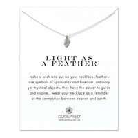 light as a feather, feather necklace, sterling silver - Dogeared