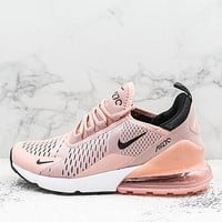 Nike Air Max 270 Coral Stardust Black-summit White Running Shoes