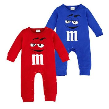 Baby Costumes New Born Boys Girls Rompers 2017 Spring Cotton Newborn Baby Onesuit Unisex Smile Barboteuse De Marque Bebe Garcon