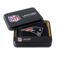 NFL New England Patriots Embroidered Genuine Cowhide Leather Billfold Wallet