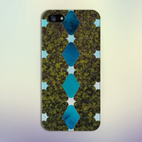 Ocean Blue Watercolor x Geometric Trees Phone Case for iPhone 6 6 Plus iPhone 5 5s 5c 4 4s Samsung Galaxy s6 s5 s4 & s3 and Note 5 4 3 2