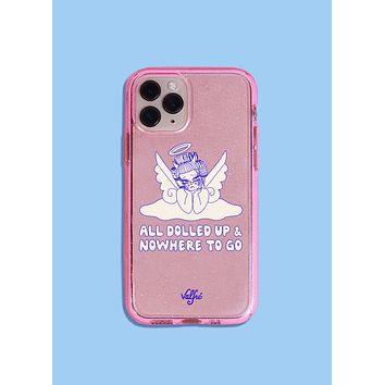 All Dolled Up Glitter Phone Case