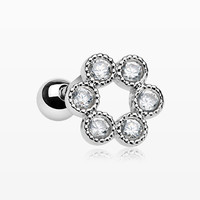 Bubble Loop Sparkle Cartilage Tragus Barbell