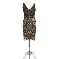 Js Collections Art Deco Beaded Tank Dress
