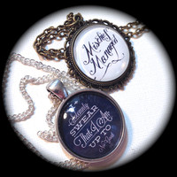 MARAUDER'S MAP . Glass Pendant Necklace Pair/Set . Harry POTTER . Friendship . GirlGameGeek