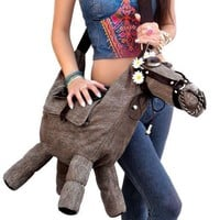 NEW URBAN OUTFITTERS DENIM & LEATHER BIG HORSE PURSE EQUESTRIAN MESSENGER BAG!