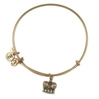 Alex and Ani King's Crown Charm Bangle - Russian Gold