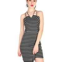 STRIPES AND SOLIDS DRESS