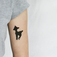 deer fawn limited edition temporary tattoo artist Emma Patterson