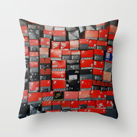 Vintage Nike Boxes Throw Pillow by Mark B.