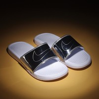 New Nike Benassi JDI Swoosh WMNS cheap Men's and women's nike Slippers Beach shoes-1686248855