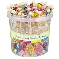 50 Individually Wrapped Assorted Naturally Flavored Tea Spoons