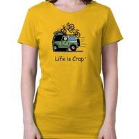 Bike Overpass Ladies T-Shirt