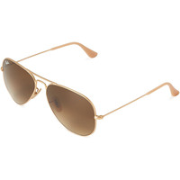 Ray-Ban RB3025 Aviator Sunglasses Gold Tone Frame Polarized Brown Gradient Lenses