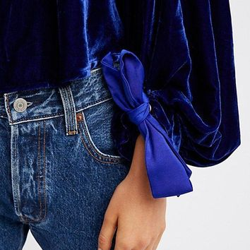 Gimme Some Lovin Top - Blue by Free People