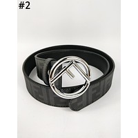 Fendi Tide brand women's retro simple smooth buckle belt #2
