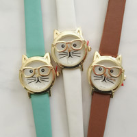 Kitty With Glasses Watch
