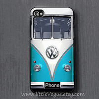 Blue VOLKSWAGEN VW mini bus iPhone Case, iphone cover, iPhone 4 case, iPhone 4s case, iPhone 5 case, iPod touch 4 case, ipod touch 5 case