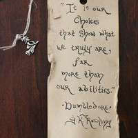 Deathly Hallows parchment bookmark