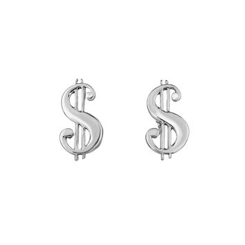 Sterling Silver Dollar $ Sign Shaped Cufflinks