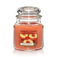 Juicy Peach : Medium Jar Candles : Yankee Candle