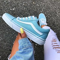 Vans Old Skool Classics Crystal Blue Sneaker Shoes