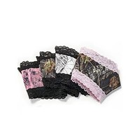 Wilderness Dreams Women's Mossy Oak Break-Up Camo Pink Lace-Trimmed Boy Short Pantie